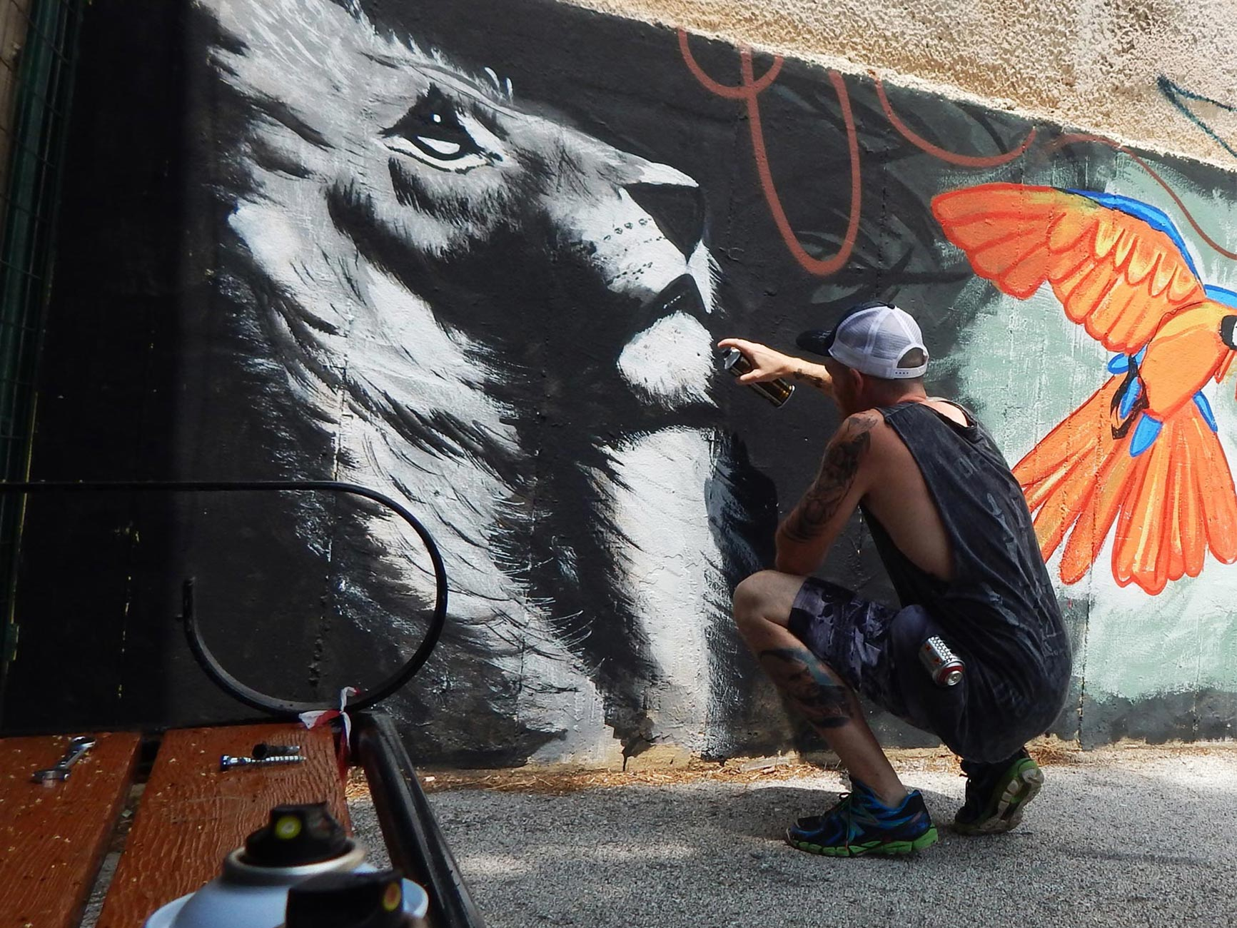 Street Art by Antonis Hambas, lion